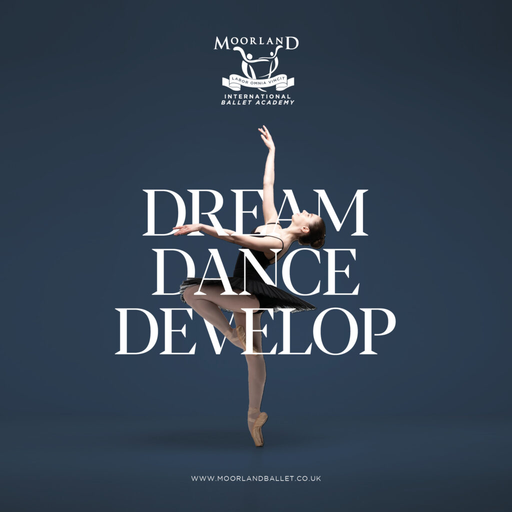 Header image with ballet dancer and text